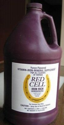 Horse Blood Supplement Red Cell Vitamin-Iron-Mineral Partial Gallon (2/3's left)