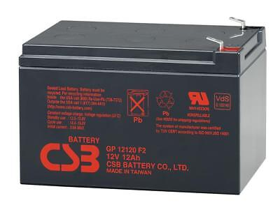 "New 2017 CSB 12v 12Ah Sealed Lead Acid Battery GP12120 F2/0.25"" Terminals"