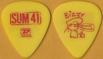 Sum 41 Deryck Whibley authentic 2005 tour issued Bizzy concert stage Guitar Pick