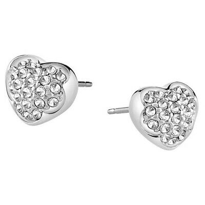 9a112f27a Guess Ladies Earring Ear Studs Stainless Steel Silver Heart Zirconia  ube71514