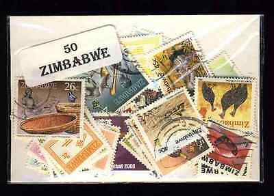 Zimbabwe 50 timbres différents
