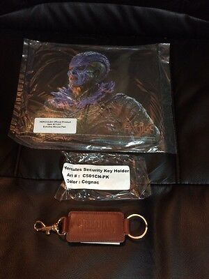 Vintage Brand New & Sealed! HERCULES MOUSE PAD & Leather Key Ring