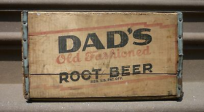 Vintage Dad's Root Beer Wood Soda Crate