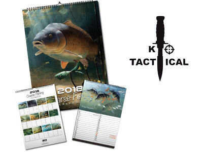 A3 Coarse Fishing 2018 Calendar Designed By NGT. Perfect Xmas Gift Idea