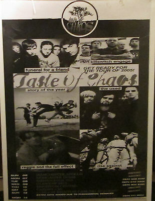 Taste Of Chaos Poster Rare New Never Opened Mid 2000's Killswitch Engage Used