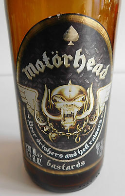 * Motorhead Bastards Beer Bottle * Empty Bottle * Official Item * Lemmy *