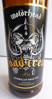 * Motorhead Road Crew Beer Bottle * Empty Bottle * Official Item * Lemmy *