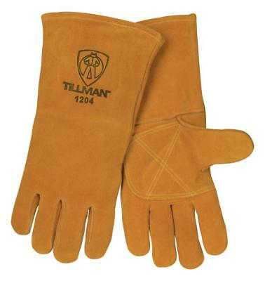 Tillman 1204 Double Reinforced Leather Palm Welding Gloves, Large