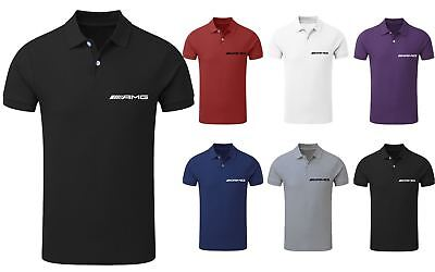 Mens Mercedes Benz AMG Polo Neck Race Day Competition T-Shirt Top S-XXL