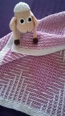 Hand-knitted wool baby blanket / Favourite children quilt / Wool Throw blanket