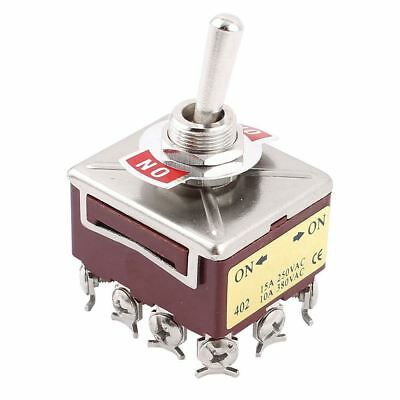AC 15A/250V 10A/380V 12 Screw Terminals On/On 4PDT Toggle Switch C2B6