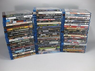 EMPTY BluRay DVD Disk Replacement Cases NO MOVIES  w/ Art Work Sleeves Lot of 71