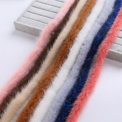Mink Fur Trim Strips Wool Top Cap Trimming Cord Winter Jacket Accessories Yard