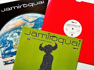 "JAMIROQUAI VINYL 12"" LOT Promo Acid Jazz Funk Too Young/Planet Earth/Gonna Learn"