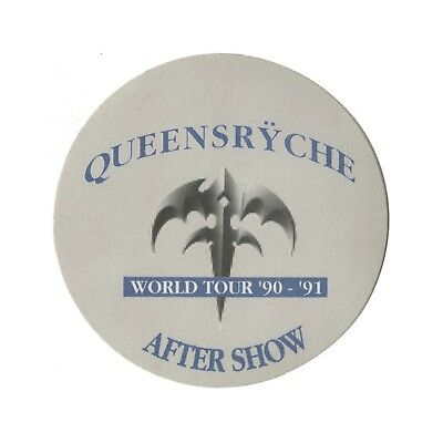 Queensryche authentic 1990 Building Empires Tour satin Backstage Pass after show