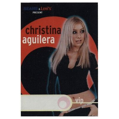 Christina Aguilera authentic VIP 2000 tour Backstage Pass
