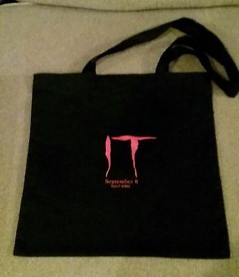 Stephen King IT (2017) Movie Pomotional Tote Book Shopping Bag SWAG Pennywise