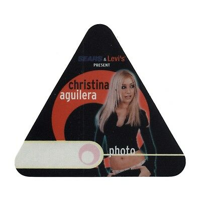 Christina Aguilera authentic Photo 2000 tour Backstage Pass