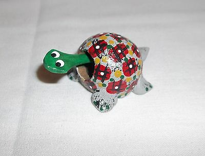 Bobble head turtle, Loose neck miniture Hand painted small gray Turtle - J