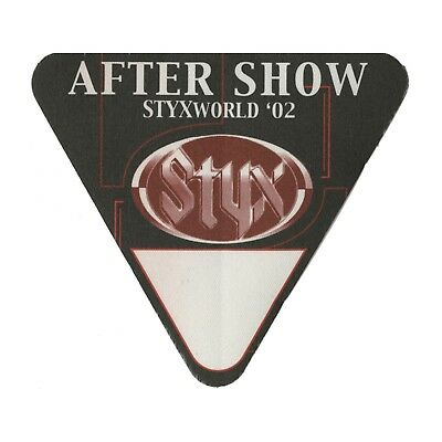 Styx authentic Aftershow 2002 tour Backstage Pass
