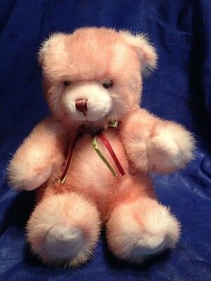 "Plush 9"" Deep Pink Teddy Bear"