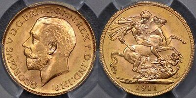 Canada, 1911 Ottawa Sovereign - PCGS MS64+