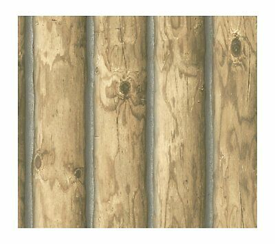 York Wallcoverings CH7977SMP Lake Forest Lodge Mountain Logs 8 x 10 Wallpaper Me