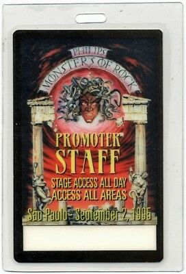 Monsters of Rock 1995 Laminated Backstage Pass Megadeth Alice Cooper Ozzy AA