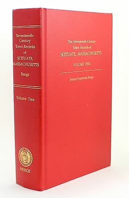 Seventeenth Century Town Records Scituate Massachusetts Volume 2 Genealogy Vtg