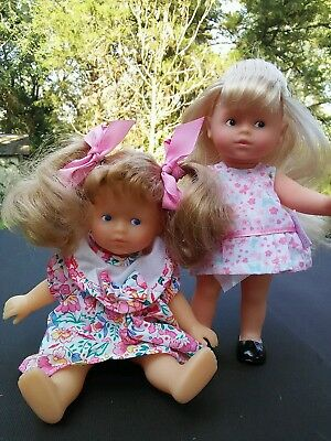 """Miss Corolle Mini Caroline Blonde 8""""  lot Blonde hair with clothes"""