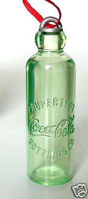 "COCA COLA EARLY HUTCHINSON BOTTLE 2.5"" Coke Miniature Willitts Ornament '91 NOS"