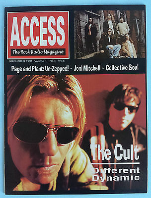 Access Nov 1994 Elvis Costello Cult Page & Plant Joni Mitchell