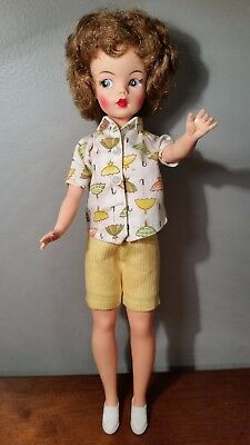 Vintage Ideal Tammy Doll-Bs12-1-High Color-Tennis The Menace Outfit-Euc