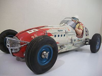 Vintage Yonezawa Champion Troy Ruttman #98 Indy Friction Racer