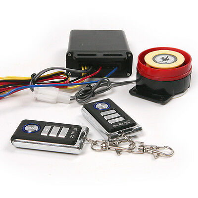 Motorcycle Security Alarm System Immobiliser Engine Off + 2 Remote Controls