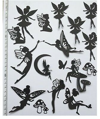 Mixed Fairy Jar pack  Die Cut Shapes (18 Pieces) - Ideal For Fairy Jars