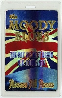 Moody Blues authentic 2010 Laminated Backstage Pass Day We Meet Again UK Tour