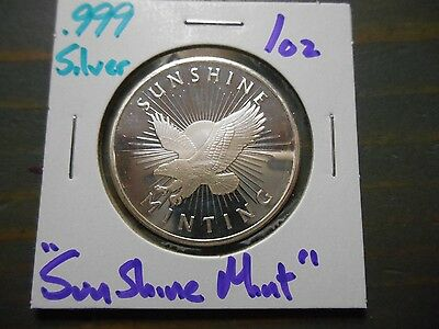Sunshine Mint  .999 Silver 1oz Round - New From Mint #1029