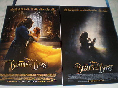 Movie Beauty Beast Poster Original 2017 27x40 2 Sided Disney S Ds Theater Emma