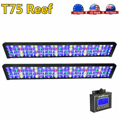 "2PCS DSunY Reef LED Aquarium Light 72"" 60"" Coral Marine SPS LPS Fish Tank Light"