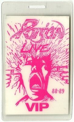 Poison authentic 1988 Laminated Backstage Pass Open Up and Say Ahh Tour VIP pink