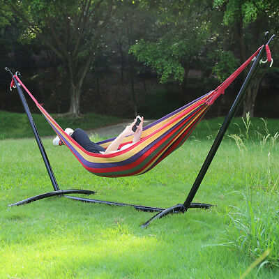 Camping Garden Hammock with Steel Stand and Carry Case