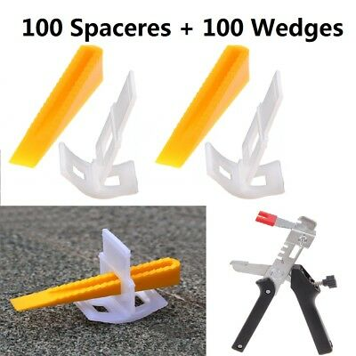 200 Tile Leveling Spacer System Tool & Wedges Pliers Tool Tiling Flooring Set UK