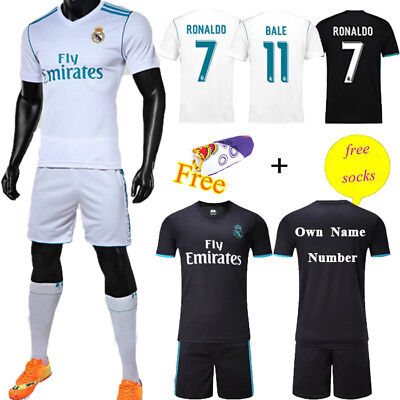 2017-18 Football Kit Adult Kids Soccer Jersey Sportwear Short Sleeve +Socks