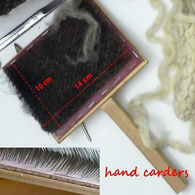 Hand Carders for Wool, blending fibers tool for spinning or felting accessories