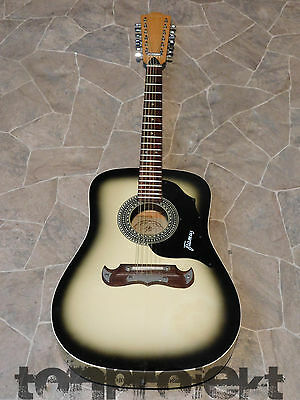 Vintage Framus Texan 12 5/296 12 CORDES DREADNOUGHT GUITARE GERMANY 1970