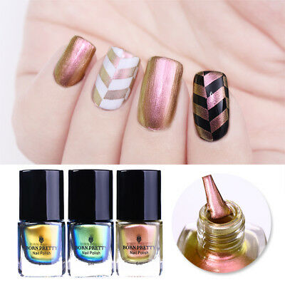 6ml Rose Gold Chameleon Stamping Polish Nails Plate Printing Varnish BORN PRETTY
