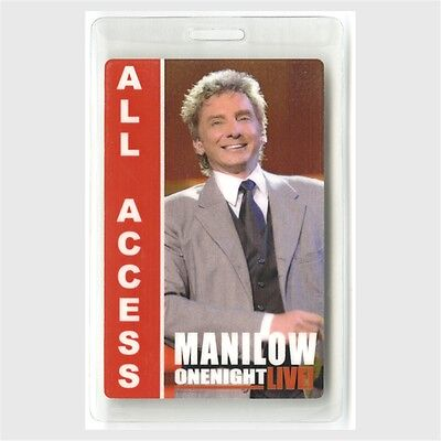 Barry Manilow authentic 2004 concert Laminated Backstage Pass One Night Tour AA
