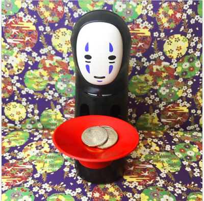 Coin Bank Spirited Away No-Face Man Kaonashi Music Piggy Bank Figure Decor Anime