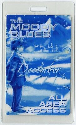 Moody Blues authentic 2003 concert tour Laminated Backstage Pass December Tour